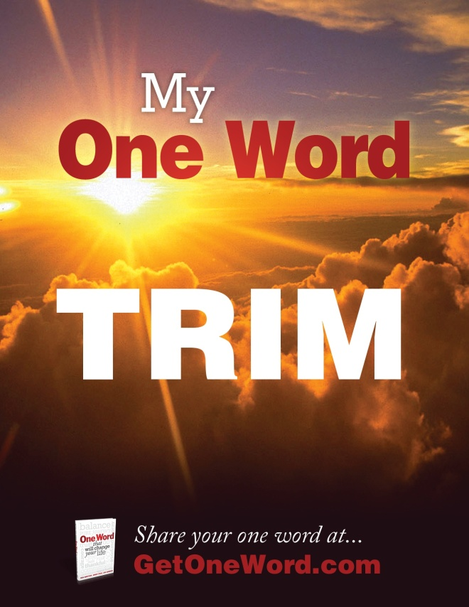My one-word-poster